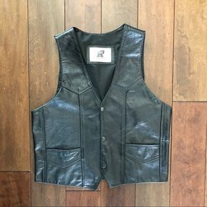 Genuine Leather Hecho En Mexico Leather Vest